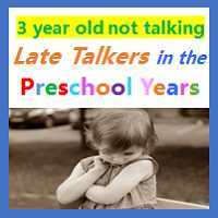 3 year old not talking