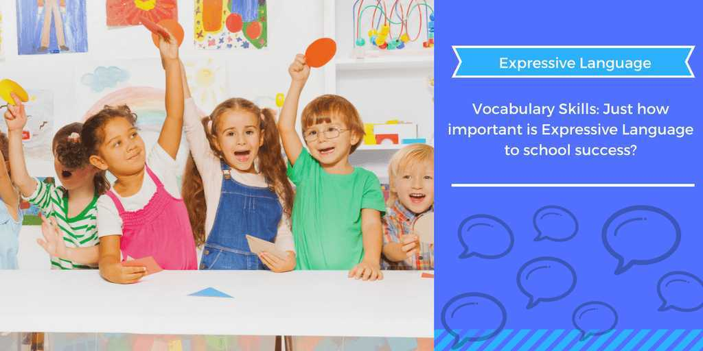 vocabulary, language, expressive language