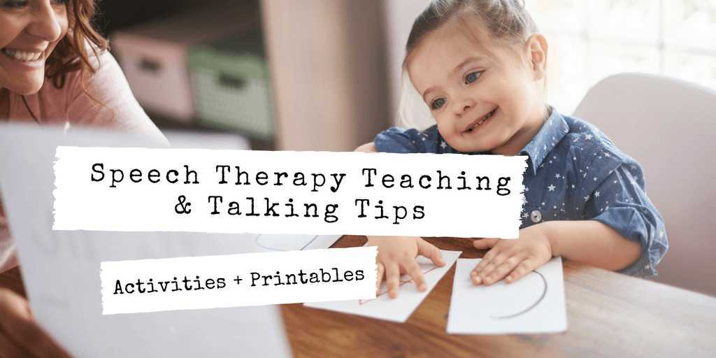 speech therapy teaching & talking tips activities printables