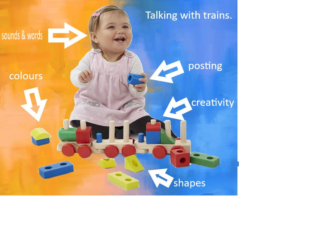 Toddler speech therapy activities with trains