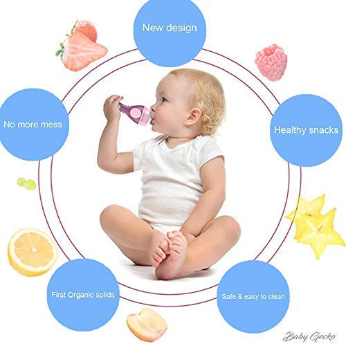 Food pacifier to introduce solids to baby