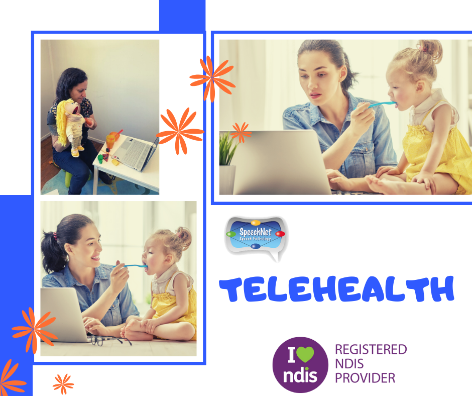 telehealth online speech therapy feeding